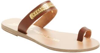 Ancient Greek Sandals Kimolos Leather Slip-On Sandal