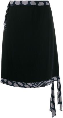 Maison Margiela Pre-Owned 1990's dot detail A-line skirt