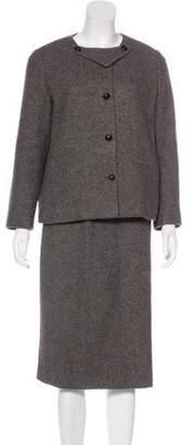 Bottega Veneta Angora-Blend Skirt Suit