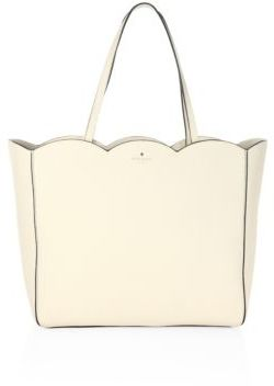 Kate Spade New York Rainn Scalloped Leather Tote $328 thestylecure.com