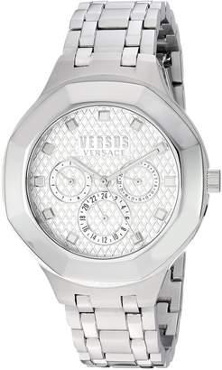 Versus By Versace Women's 'LAGUNA CITY' Quartz Stainless Steel Casual Watch, Color:-Toned (Model: VSP360417)