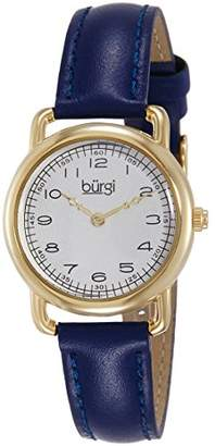 Burgi Women's Analog Display Quartz Blue Watch