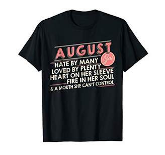 Vintage August Girl Hated By Many Loved By Plenty T-Shirt