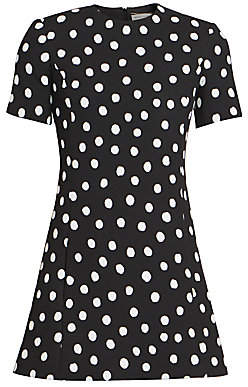 Saint Laurent Women's Polka Dot Mini Dress