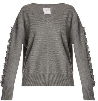 Barrie - Troisieme Dimension V Neck Cashmere Sweater - Womens - Grey