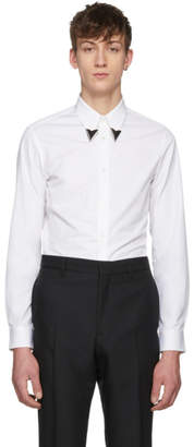 Calvin Klein White Pointed Collar Shirt