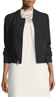 Theory Daryette Elevate Bomber Jacket $455 thestylecure.com