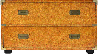 One Kings Lane Vintage Campaign-style Low Chest of Drawers - Castle Antiques & Design