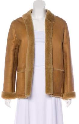 Chanel Notched-Lapel Shearling Jacket