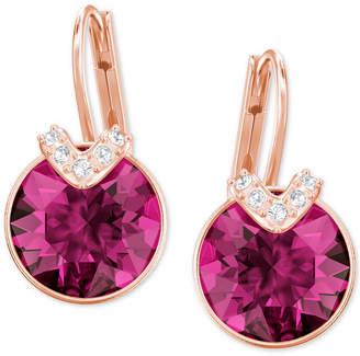 Swarovski Silver-Tone Oval Crystal Drop Earrings