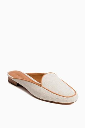 Neely & Chloe Natural Linen Slide $178 thestylecure.com