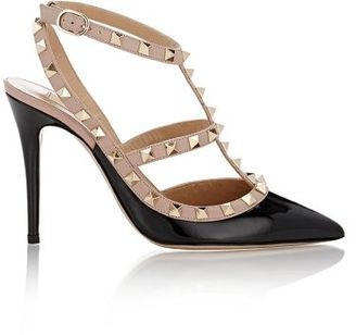 Valentino Women's Rockstud Caged Pumps-BLACK $995 thestylecure.com