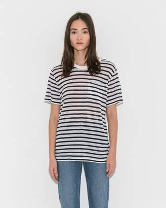 Alexander Wang Striped Classic Short Sleeve Tee