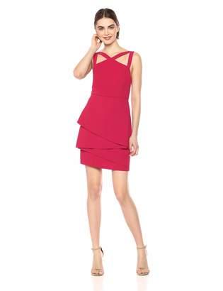 BCBGMAXAZRIA Azria Women's Asymmetrical Peplum Sheath Dress