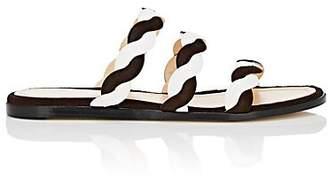 GIANNICO Women's Edna Calf-Hair Slide Sandals - Brown