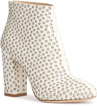 Charlotte Olympia Alba Star white leather boots