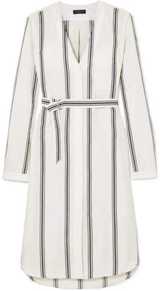 Rag & Bone Alyse Striped Cotton And Linen-blend Shirt Dress - Ivory