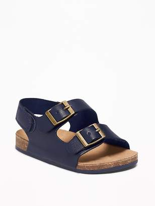 Old Navy Faux-Leather Double-Buckle Sandals for Baby