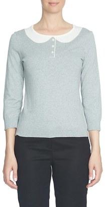 CeCe Intarsia Collar Sweater $79 thestylecure.com