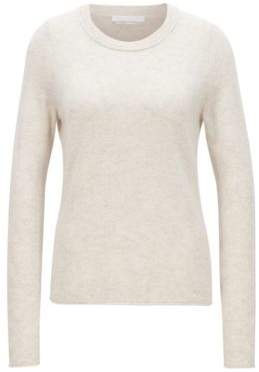BOSS Hugo Cashmere sweater rolled edges XL Open White