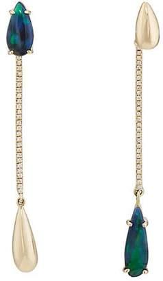 Pamela Love Fine Jewelry Women's Raindrop Ear Jackets - Green