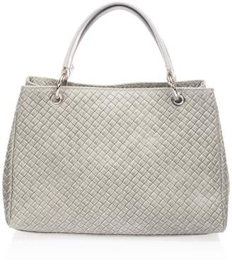 Castelli Massimo Basketweave Leather Satchel