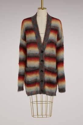 Chloe Mohair oversize striped cardigan