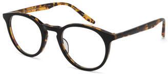Barton Perreira Princeton Round Acetate Optical Frames, Black/Tortoiseshell $350 thestylecure.com