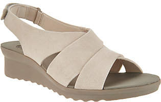 Clarks CLOUDSTEPPERS by Wedge Sandals -Caddell Bright