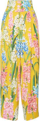 Dolce & Gabbana Floral-Print Poplin Wide-Leg Pants
