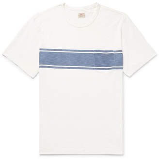 Faherty Slim-Fit Striped Slub Cotton-Jersey T-Shirt - Men - White