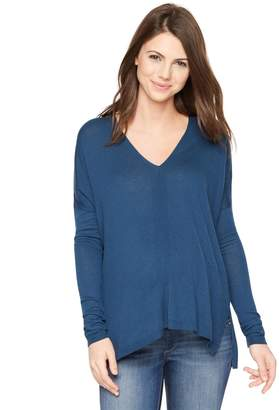 Vince Pea Collection Long Sleeve Maternity Wool Jersey Shirt