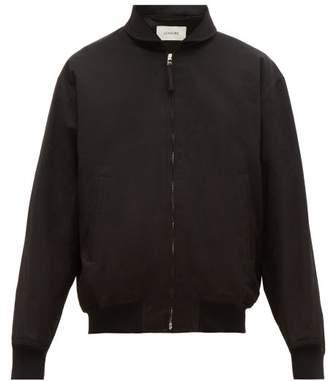 79bcbe8ff Lemaire Zip Front Cotton Twill Bomber Jacket - Mens - Black