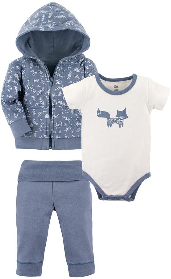 Light Blue Hoodie Set - Infant