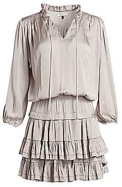 Halston Women's Ruffle Mini Dress
