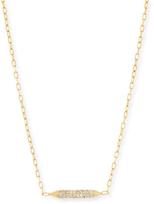 MIO Cyn Crystal Bar Stud Necklace