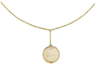 """14K Two-tone Wire Wrapped 18"""" Necklace"""