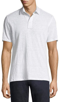 Ermenegildo Zegna Solid Linen Polo Shirt