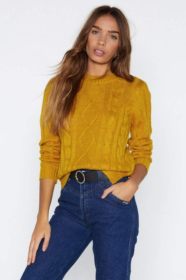 Ready Willing and Cable Sweater