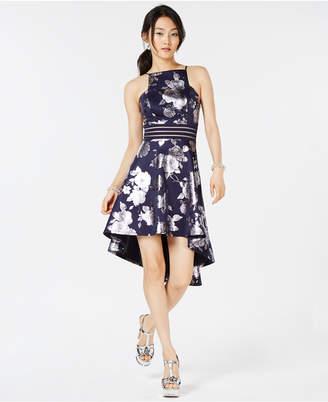 City Studios Juniors' Printed High-Low Dress