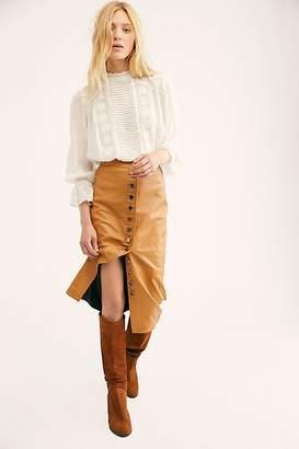 Muu Baa Muubaa Leather Button Front Skirt