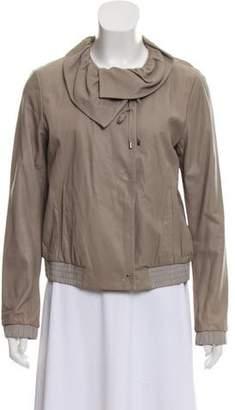 Diane von Furstenberg Leather Glynn Jacket