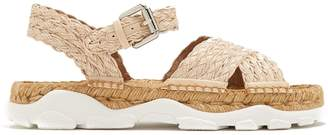 Stella McCartney Woven-raffia espadrille sandals