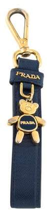 Prada Bear Saffiano Keychain Navy Bear Saffiano Keychain