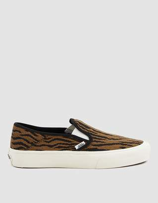 Vans Woven Tiger Slip-On Sf Sneaker in Black