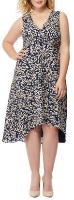 Wilson Rebel X Angels Print Hi-Lo Dress (Plus Size)