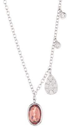 Meira T 14K White Gold Diamond & Oval Necklace - 0.08 ctw