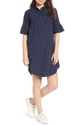 Scotch & Soda Patterned Bell Sleeve Shirt Dress