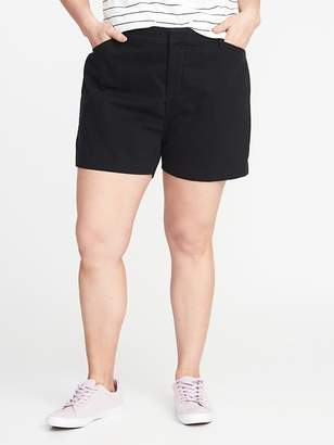 "Old Navy Mid-Rise Secret-Slim Plus-Size Pixie Chino Shorts (7"")"