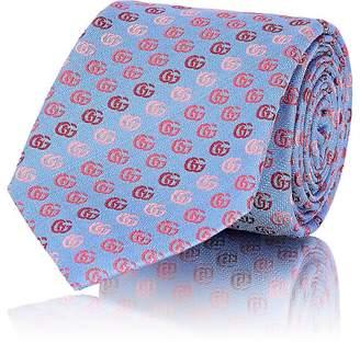Gucci Men's Logo-Print Silk Necktie